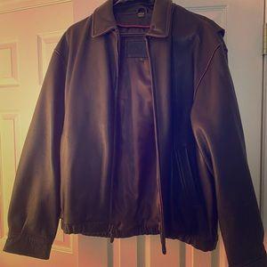 Men's Aviator Leather Bomber Coat..
